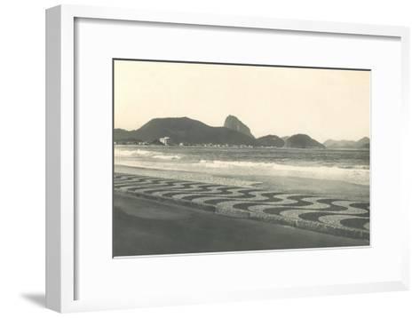 Beach at Copacabana--Framed Art Print