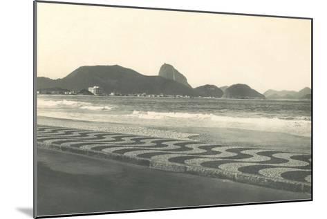 Beach at Copacabana--Mounted Art Print