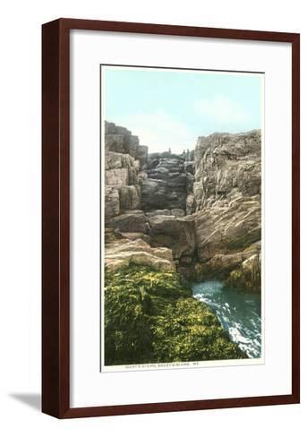 Giant's Stairs, Bailey's Island, Maine--Framed Art Print
