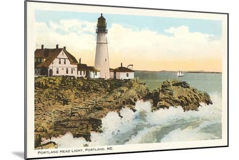 Portland Head Lighthouse, Portland, Maine--Mounted Art Print