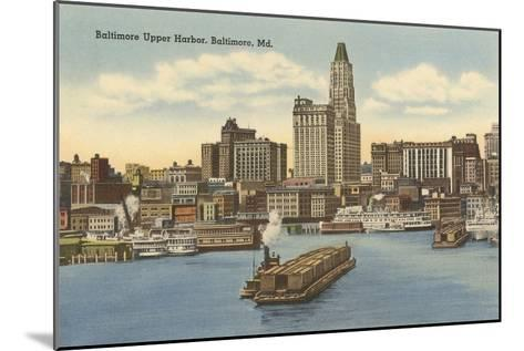 Harbor, Baltimore, Maryland--Mounted Art Print