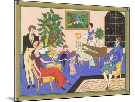 Regency Family Christmas Scene--Mounted Art Print