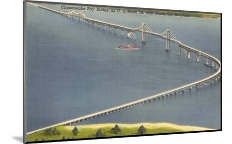 Chesapeake Bay Bridge, Annapolis, Maryland--Mounted Art Print