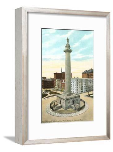Washington Monument, Baltimore, Maryland--Framed Art Print