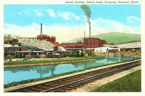 Oxford Paper Company, Rumford, Maine--Stretched Canvas Print