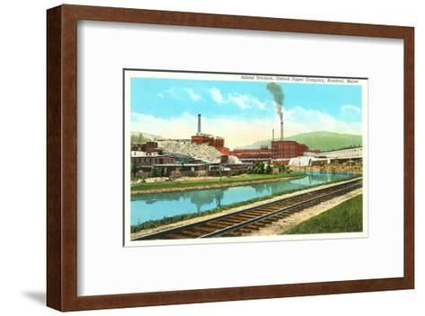 Oxford Paper Company, Rumford, Maine--Framed Art Print