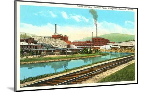 Oxford Paper Company, Rumford, Maine--Mounted Art Print