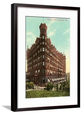Rennert Hotel, Baltimore, Maryland--Framed Art Print