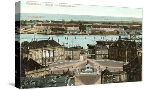 Copenhagen, View from the Marble Church, Denmark--Stretched Canvas Print