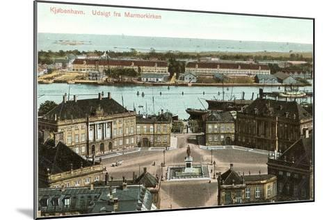 Copenhagen, View from the Marble Church, Denmark--Mounted Art Print