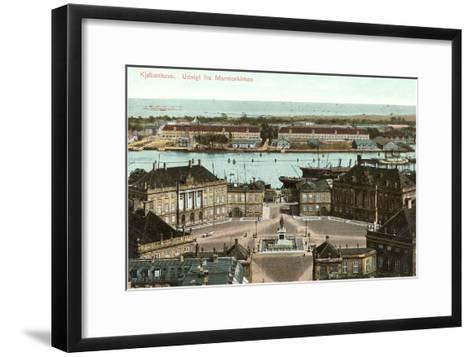 Copenhagen, View from the Marble Church, Denmark--Framed Art Print