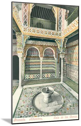 Room of Beds, Alhambra, Granada, Spain--Mounted Art Print
