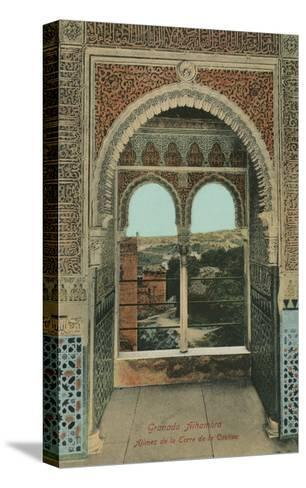 Lookout from the Prisoners Tower, Alhambra, Granada, Spain--Stretched Canvas Print