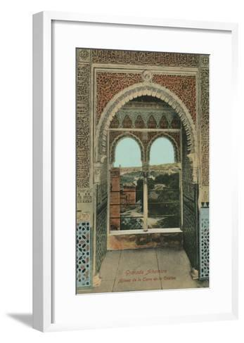 Lookout from the Prisoners Tower, Alhambra, Granada, Spain--Framed Art Print