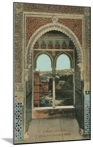 Lookout from the Prisoners Tower, Alhambra, Granada, Spain--Mounted Art Print
