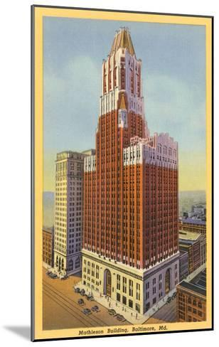Mathieson Building, Baltimore, Maryland--Mounted Art Print