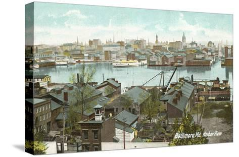 Harbor View, Baltimore, Maryland--Stretched Canvas Print