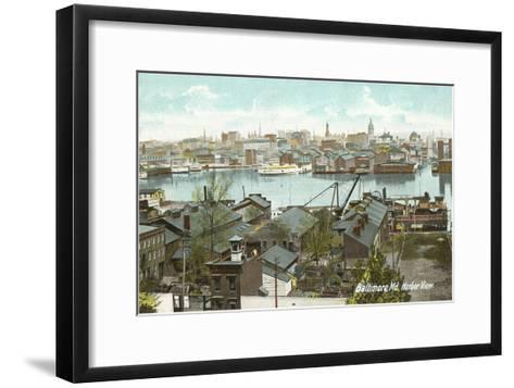 Harbor View, Baltimore, Maryland--Framed Art Print