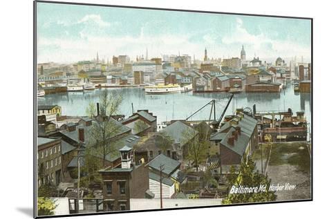 Harbor View, Baltimore, Maryland--Mounted Art Print