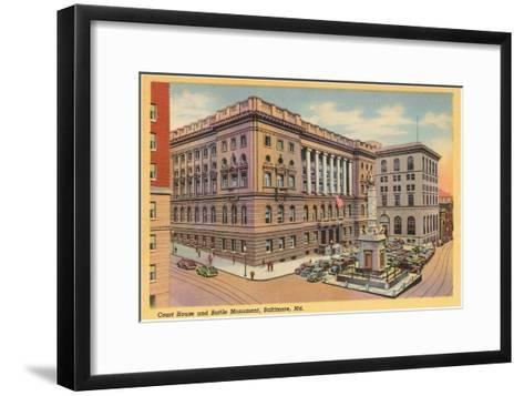 Courthouse, Baltimore, Maryland--Framed Art Print