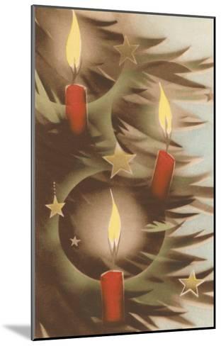 Christmas Candles on Tree--Mounted Art Print