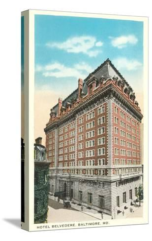 Hotel Belvedere, Baltimore, Maryland--Stretched Canvas Print