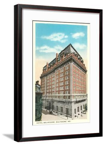 Hotel Belvedere, Baltimore, Maryland--Framed Art Print