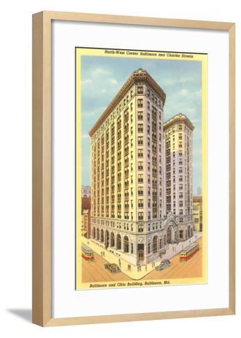 Baltimore & Ohio Building, Baltimore, Maryland--Framed Art Print