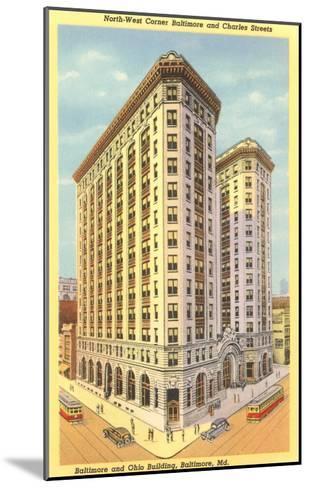Baltimore & Ohio Building, Baltimore, Maryland--Mounted Art Print