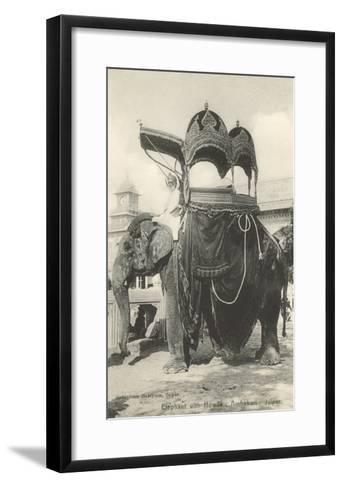 Elephant with Howdah, Amhehari, India--Framed Art Print