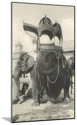 Elephant with Howdah, Amhehari, India--Mounted Art Print