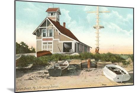 Life Saving Station, Popham Beach, Maine--Mounted Art Print