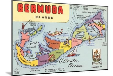 Map of Bermuda Islands--Mounted Art Print