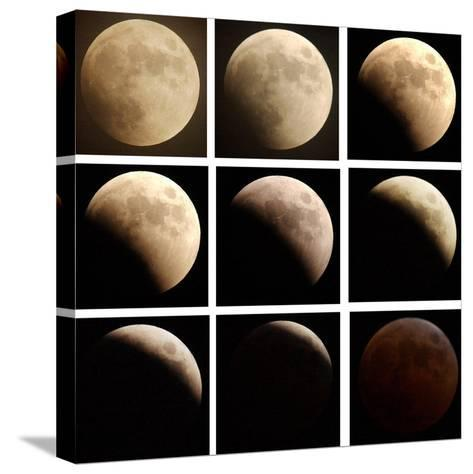 This Sequence of Photographs Shows the Total Eclipse of the Moon over Denver, Colorado--Stretched Canvas Print