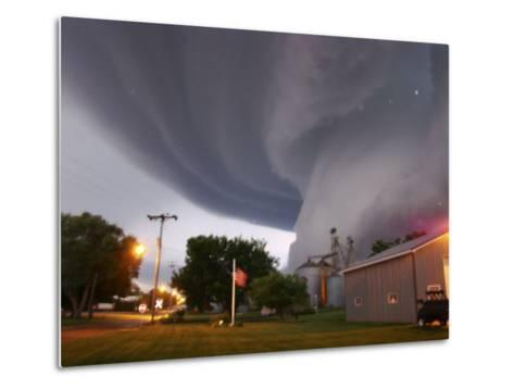 Huge Tornado Funnel Cloud Touches Down in Orchard, Iowa,--Metal Print