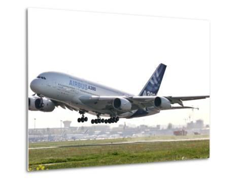 Airbus A380, the World's Largest Passenger Plane, Takes Off Successfully on its Maiden Flight--Metal Print