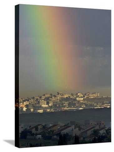 Rainbow is Seen over the Northern Gaza Strip, from the Israel-Gaza Border--Stretched Canvas Print