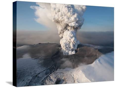 Crater at the Summit of the Volcano in Southern Iceland's Eyjafjallajokull Glacier--Stretched Canvas Print