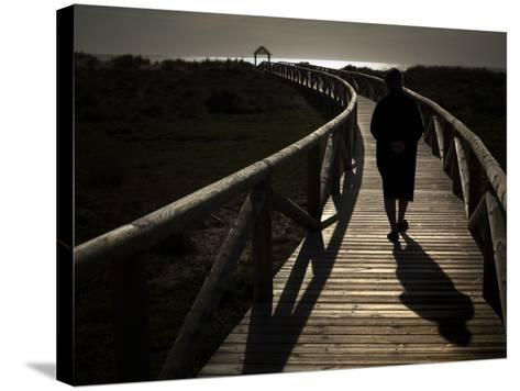 Along a Wooden Track During a Walk to the Beach in Village of Zahara De Los Atunes, Southern Spain--Stretched Canvas Print