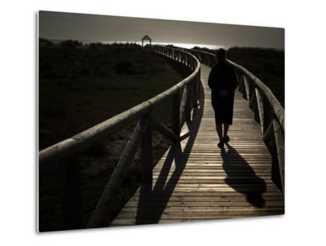 Along a Wooden Track During a Walk to the Beach in Village of Zahara De Los Atunes, Southern Spain--Metal Print
