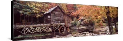 Power Station in a Forest, Glade Creek Grist Mill, Babcock State Park, West Virginia, USA--Stretched Canvas Print
