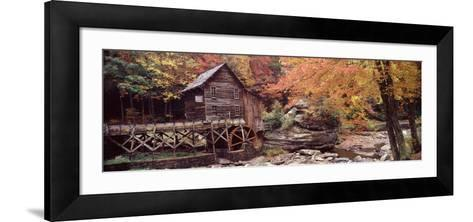 Power Station in a Forest, Glade Creek Grist Mill, Babcock State Park, West Virginia, USA--Framed Art Print