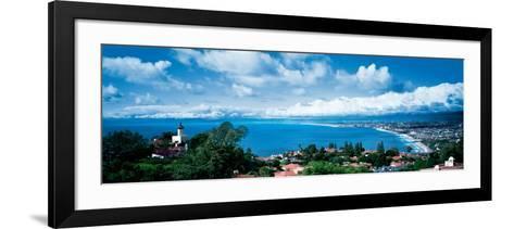 City at the Coast, Palos Verdes Peninsula, Palos Verdes, Los Angeles County, California, USA--Framed Art Print