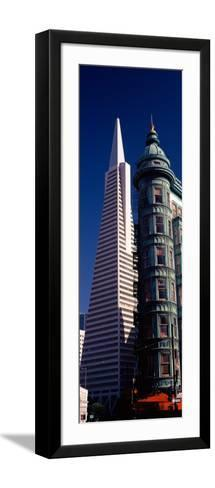 View of Towers, Columbus Tower, Transamerica Pyramid, San Francisco, California, USA--Framed Art Print