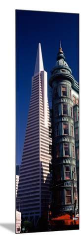 View of Towers, Columbus Tower, Transamerica Pyramid, San Francisco, California, USA--Mounted Photographic Print
