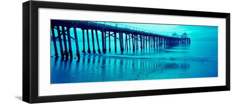 Pier at Sunset, Malibu Pier, Malibu, Los Angeles County, California, USA--Framed Art Print