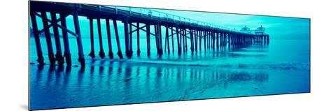 Pier at Sunset, Malibu Pier, Malibu, Los Angeles County, California, USA--Mounted Photographic Print
