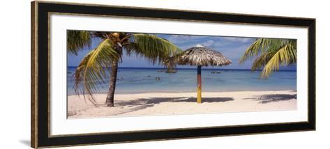 Sunshade on the Beach, La Boca, Cuba--Framed Art Print