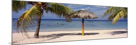 Sunshade on the Beach, La Boca, Cuba--Mounted Photographic Print