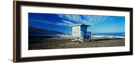 Lifeguard Hut on the Beach, Torrance Beach, Torrance, Los Angeles County, California, USA--Framed Art Print